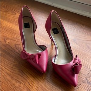 Ella Bow Leather Heels